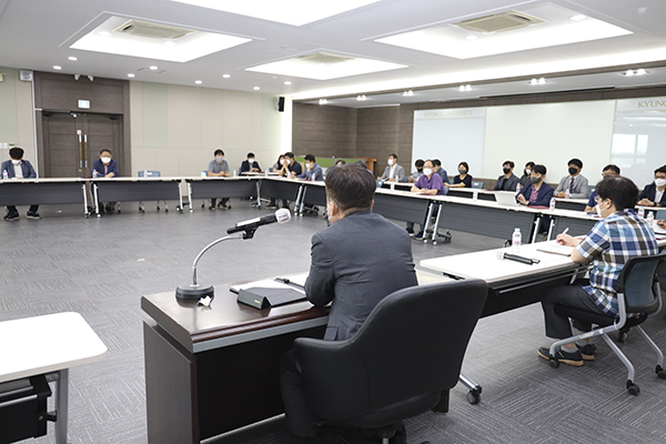 2021-07-05 신임 보직교수에 대한 임명장 수여 및 대학본부·단과대학 주요 보직자 회의 주재
