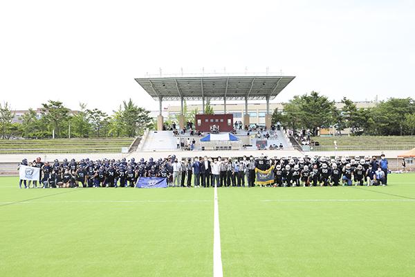 2021-07-11 미식축구부 OB회 스포츠발전기금 기탁 및 히어로즈 볼 대회사